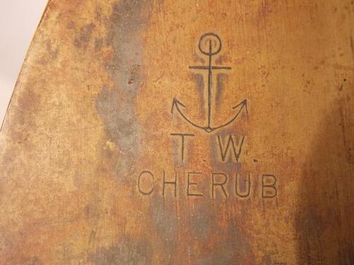 antique, rara pieza de colección, corredera marítima inglesa