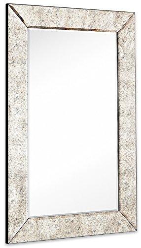 Antiqued Gran Espejo De Pared Enmarcada Marco Antiguo Del P ...