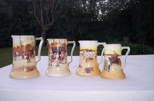 antiquisima jarra para jugos 1 royal doulton serie cocheros