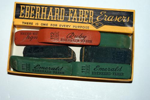 antiquisimas gomas para borrar everhard fabel castel 2 cajas