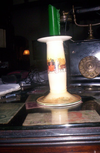antiquisimo candelabro 1 royal doulton serie cocheros reina