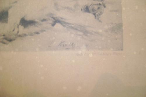 antiquisimo grabado la guerra napoleonica 1812 enmarcado