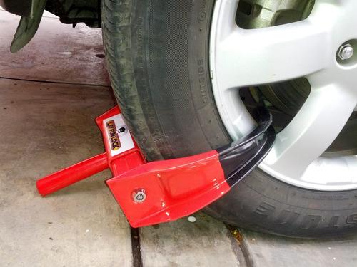 antirrobo layfunlock cepo bloqueador de ruedas para vehiculo