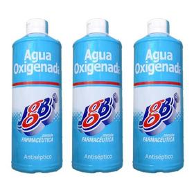 Antiseptico Agua Oxigenada Jgb 500ml X 3 Unidades