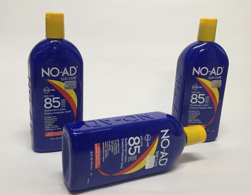 antisolar bloqueador protector solar no-ad 85 spf 475 ml