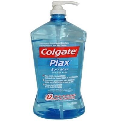 31e0a37d6c Antisséptico Bucal Com Flúor Plax Soft Mint-colgate 2 Lit - R$ 154 ...