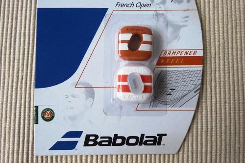 antivibrador babolat custom damp french open x2. nuevo