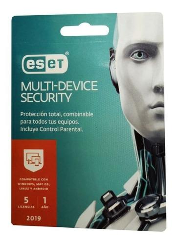 antivirus eset multi device security 5 licencias 12 meses