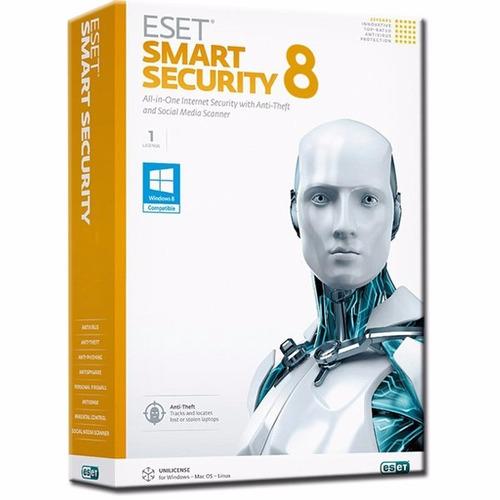 antivirus licencia eset smart security v8 1 año - 1 pc