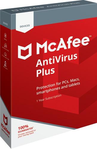 antivirus mcafee antivirus plus 2019 5 pc 1 año