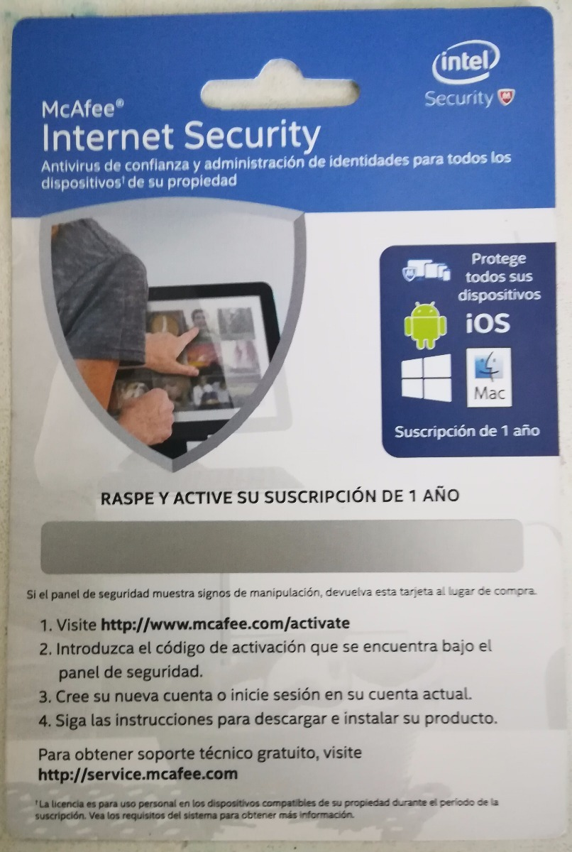 Antivirus Mcafee Internet Security 1 Ao Blister S 4000 En 3 Year Cargando Zoom