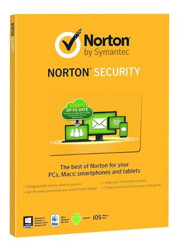 antivirus norton internet security 1 pc 2 año ultima version