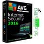 Avg Internet Security 2016 - Licencia Hasta Fbr-2018 5 Pc