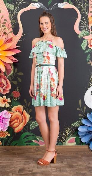 87d6c41ba Antix Vestido Floral Babado - R$ 272,90 em Mercado Livre