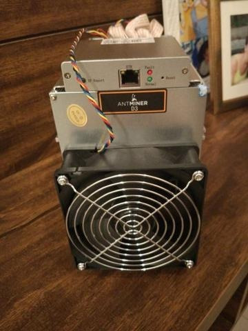 antminer d3 19 gh/s x11 + fonte 1600w