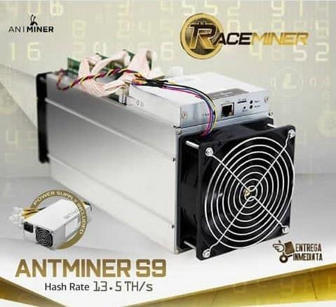 antminers s9 13.5 th/s incluyen fuente de poder