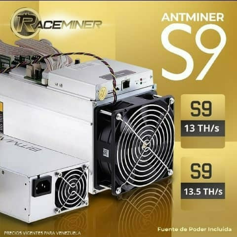 antminers s9 13th/s s9 13.5th/s incluyen fuente de poder