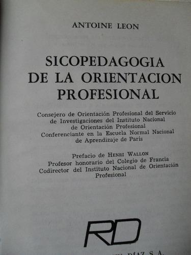 antoine leon - psicopedagogía de la orientación profesional