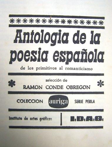 antologia de la poesia española ramon conde obregon