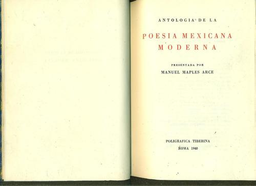 antología de la poesía mexicana moderna - maples arce