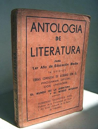 antologia de literatura 1.er año educación media florencio v