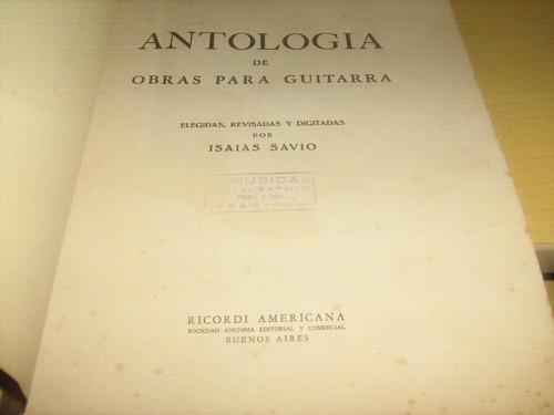 antologia de obras para guitarra