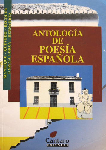 antología de poesía española, bécquer garcía lorca, cántaro