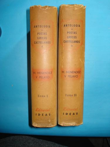 antología de poetas líricos castellanos. ( textos y notas)