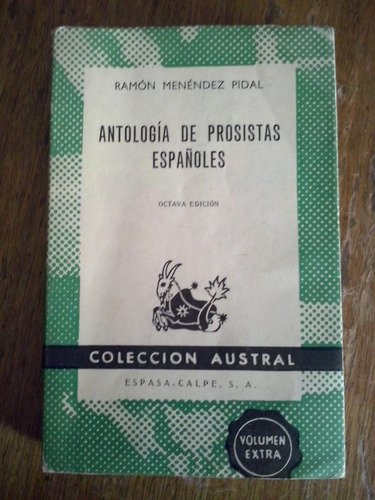 antología de prosistas españoles - ramón menéndez pidal