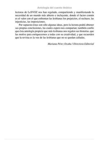 antología del cuento lésbico, lesvoz.
