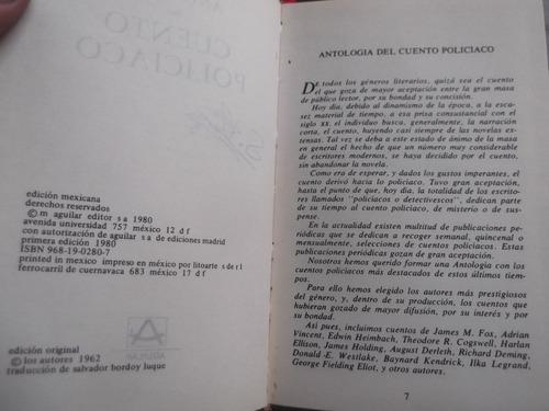 antologia del cuento policiaco tapa de cuero aguilar 630 pp