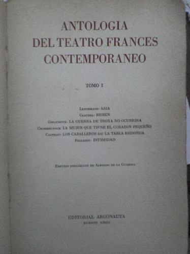 antologia del teatro frances contemporaneo tomo i