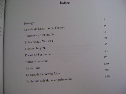 antología mínima de letras castellanas - m. j. amaro