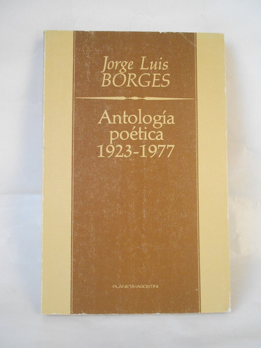 antología poética (1923-1977) borges poesía