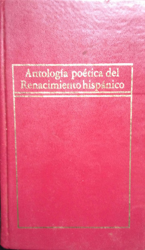 antologia poetica del renacimiento hispanico - , hyspameric,