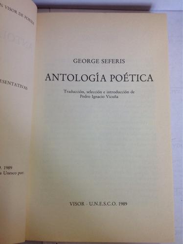 antología poética georges seferis