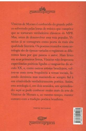 antologia poética - vinicius de moraes - promoção no cartão