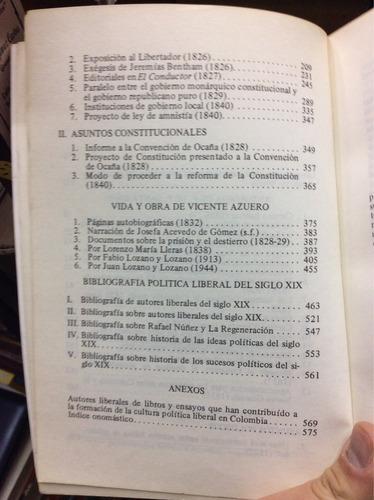 antología política - francisco de paula santander