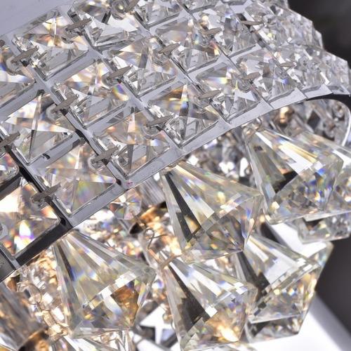 antonia ornate crystal flush mount candelabro in chrome