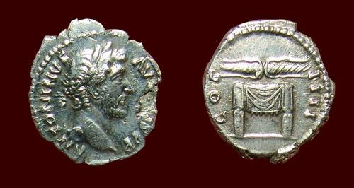 antonino pio, denario prata imperio romano altar. soberbo!!!
