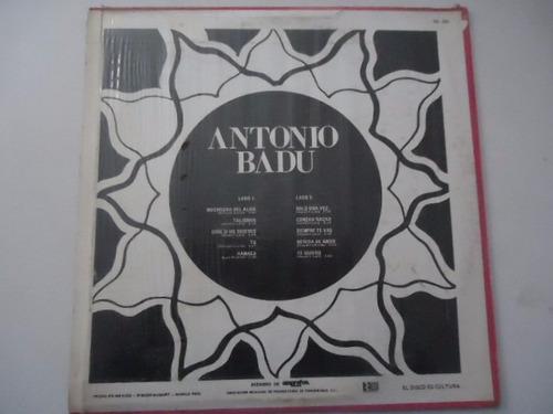 antonio badu / muchacha del alma vinyl lp acetato