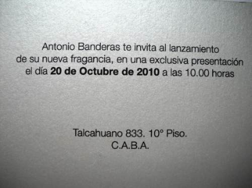 Antonio Banderas The Secret Tarjeta Invitacion De Coleccion 111 31
