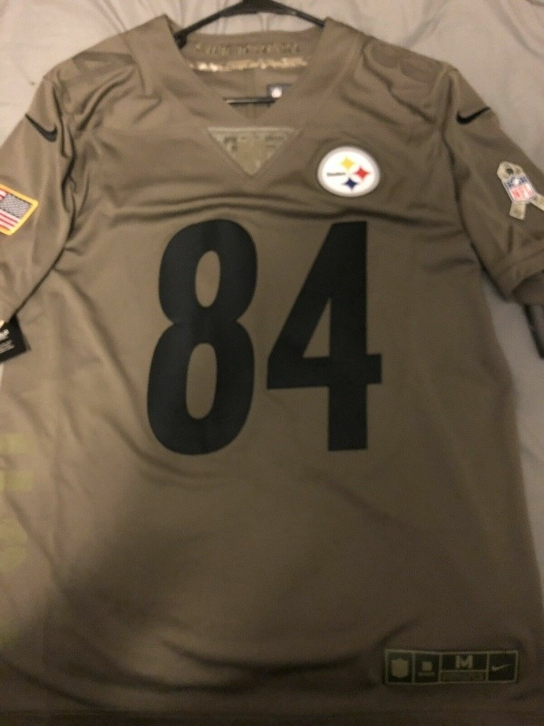 best website 3a980 845b7 Antonio Brown Pittsburgh Steelers Salute To Service Limite M
