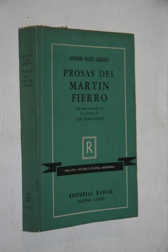 antonio pages larraya - prosas del martin fierro