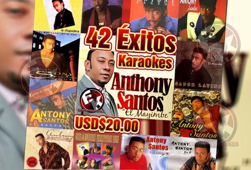 antony santos 42 éxitos karaokes cdg+mp3 profesionales