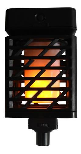 antorcha cuadrada led panel solar sensor de luz /e