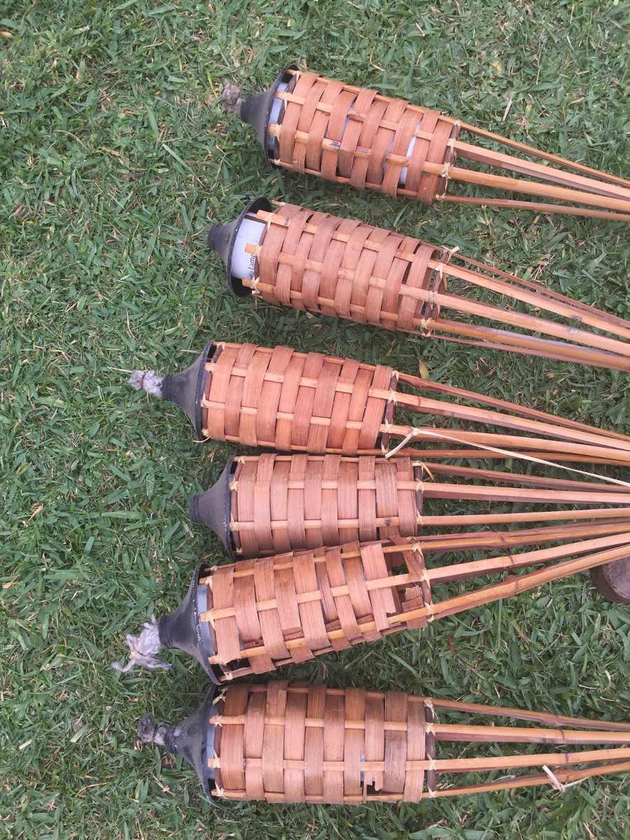 Antorcha de bambu para jardines bs en mercado for Antorchas para jardin