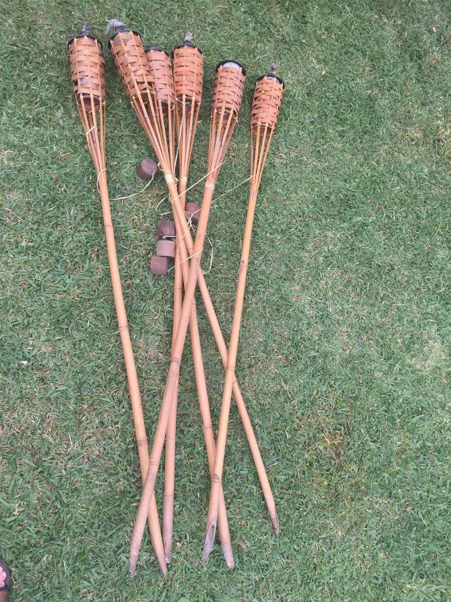 Antorcha de bambu para jardines bs en mercado libre - Antorchas solares para jardin ...