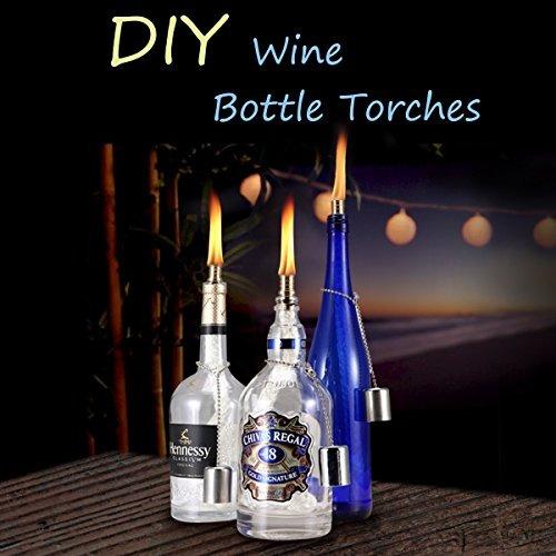 antorchas,lanmu botellas de vino tiki mechas, lámparas d..