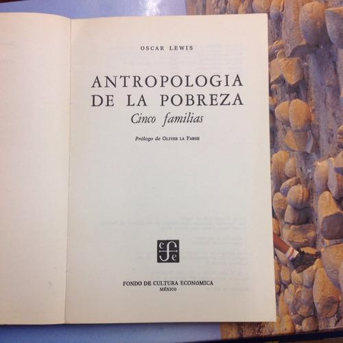 antropología de la pobreza. oscar lewis.